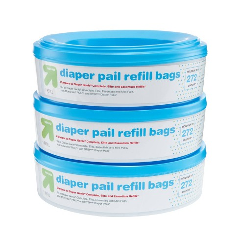 Diaper Pail Refill Bags - 3pk - up & up™ - image 1 of 4
