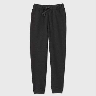 Girls' Adaptive Fleece Jogger Pants - Cat & Jack™ Black