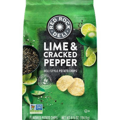 Red Rock Deli Lime & Cracked Pepper Deli Style Potato Chips- 6.875oz