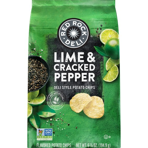 Red Rock Deli Lime & Cracked Pepper Deli Style Potato Chips- 6.875oz - image 1 of 4