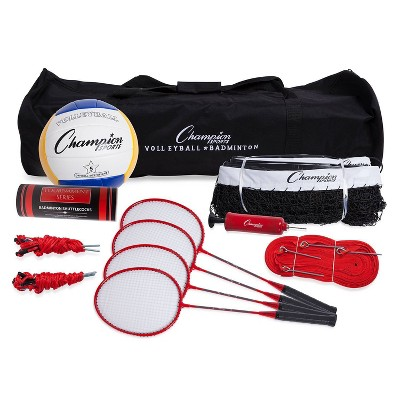 Champion Deluxe Volleyball and Badminton Tournament Set