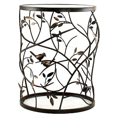 Large Bird and Branches Side Table Antique Bronze - FirsTime