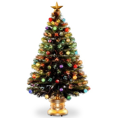 4ft LED Fiber Optic Fireworks Tree Slim with Ball Ornaments - image 1 of 2