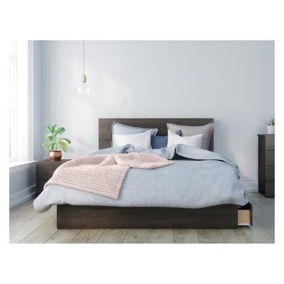 3pc Queen Alaska Bedroom Set Black/White - Nexera