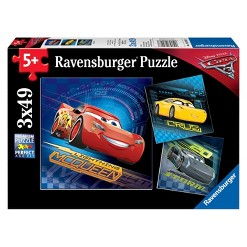 Ravensburger Disney Cars 3: 3pk Lighting And Friends Puzzles 147pc