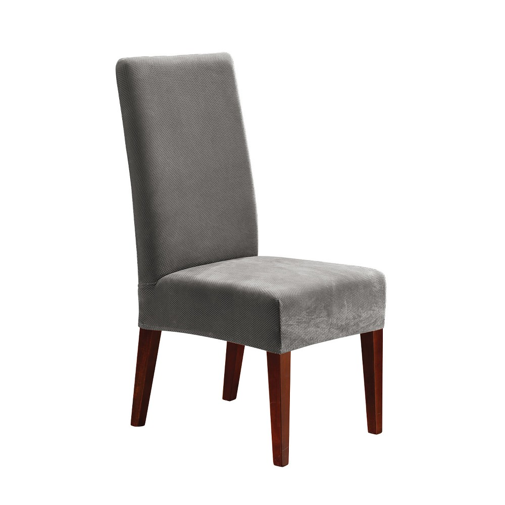 Stretch Pique Short Dining Room Chair Slipcover Flannel Sure Fit