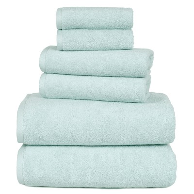 Solid Bath Towels And Washcloths 6pc Seafoam - Yorkshire Home