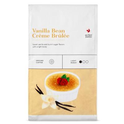 Vanilla Bean Creme Brulee Light Roast Ground Coffee - 20oz - Archer Farms™
