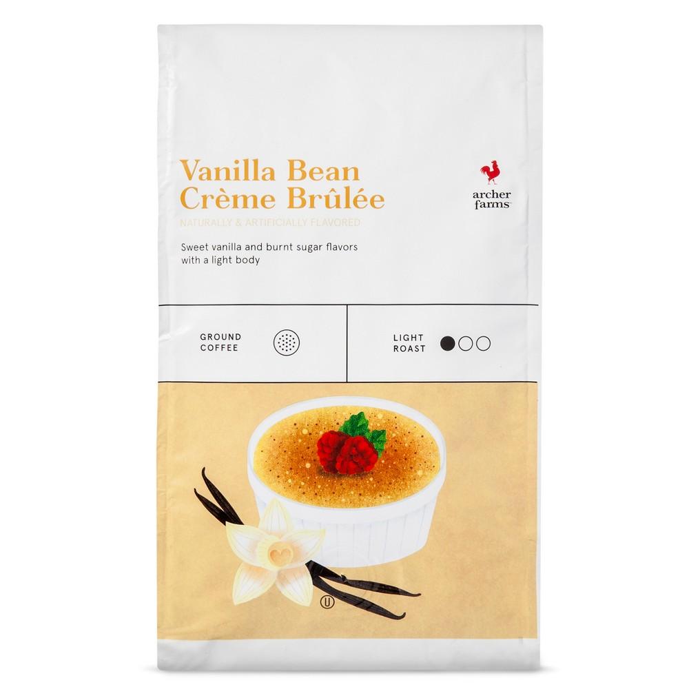 Vanilla Bean Creme Brulee Light Roast Ground Coffee - 20oz - Archer Farms