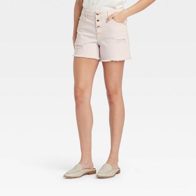 Women's High-Rise Midi Jean Shorts - Universal Thread™
