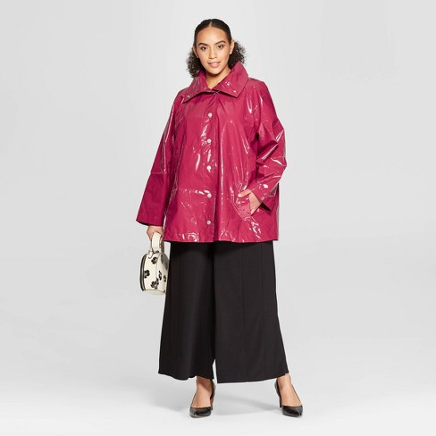1342270d6dd Women s Plus Size Front Double Welt Pocket Button Detailed Anorak Jacket -  Who What Wear™ Cranberry Red 4X   Target