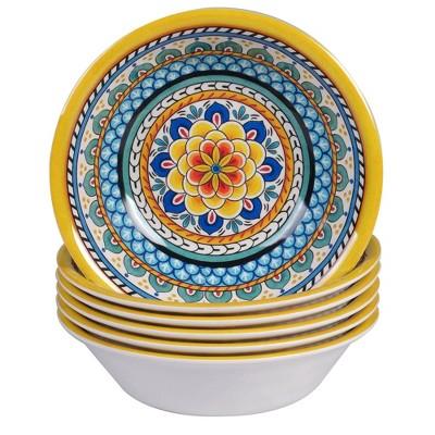 22oz 6pk Melamine Portofino Bowls - Certified International