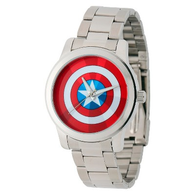 Men's Marvel Captain America Casual Alloy Watch - Silver