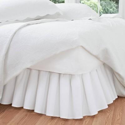 White Ruffled 14  Bed Skirt (King)