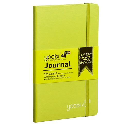 "Yoobi™ Hardcover Journal - Green, 5.2"" x 8.5"", 80 Sheets - image 1 of 3"