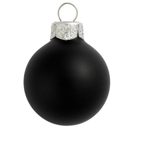 "Northlight 40ct Matte Glass Ball Christmas Ornament Set 1.25"" - Black - image 1 of 1"