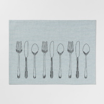 19 x14  Utensils Placemat Aqua - Threshold™