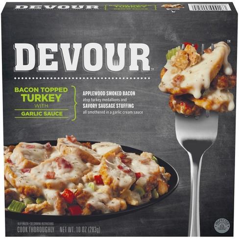 Devour Bacon Topped Frozen Turkey With Garlic Sauce Target