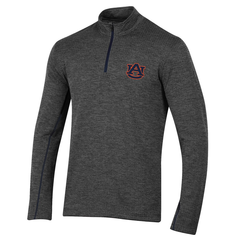 Auburn Tigers Men's Long Sleeve Digital Textured 1/4 Zip Fleece - Gray Xxl