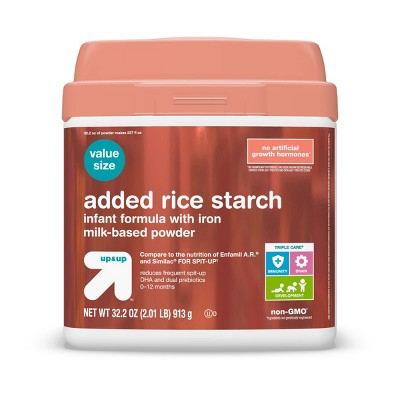 Added Rice Starch Infant Formula with Iron Powder - 32.2oz - up & up™
