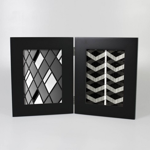 """Wide Hinged Frame Holds 2 Photos Black 5""""x7"""" - Made By Design™ - image 1 of 4"""