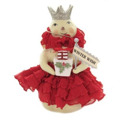 "Christmas 5.5"" Crimson Snowman Winter Wish  -  Decorative Figurines"