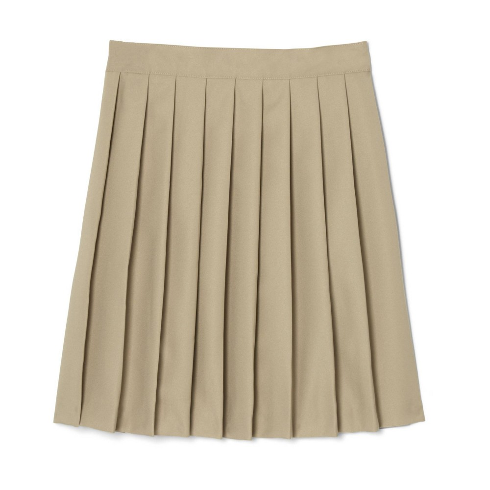 French Toast Young Womans 39 Uniform Pleated Skirt Khaki 14