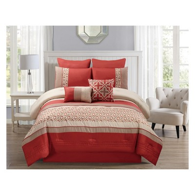 8pc Janna Comforter Set Orange - Riverbrook Home