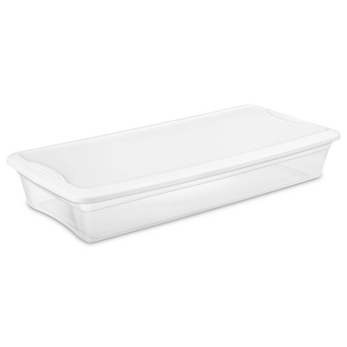 Sterilite 41qt Under Bed Box with Lid Clear/White - image 1 of 3