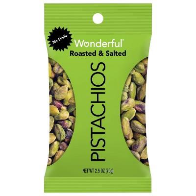 Wonderful Pistachio No Shells Roasted Salted - 2.25oz