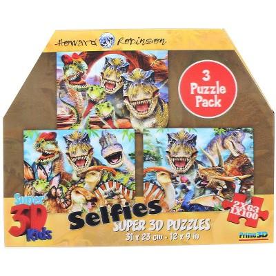 Howard Robinson Howard Robinson- Dinosaur Selfies 63 & 100pc 3D Puzzle Box of 2