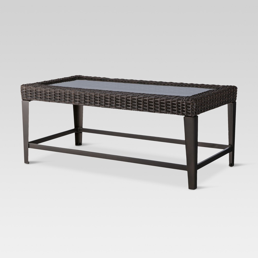 Belvedere Wicker Patio Coffee Table Brown - Threshold