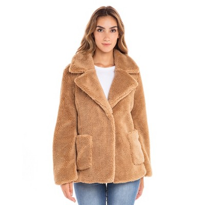Sebby Teddy Faux Fur Jacket