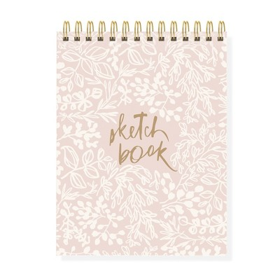 Blank Wrap Journal Hardcover Spiral Bound Pink - Fringe