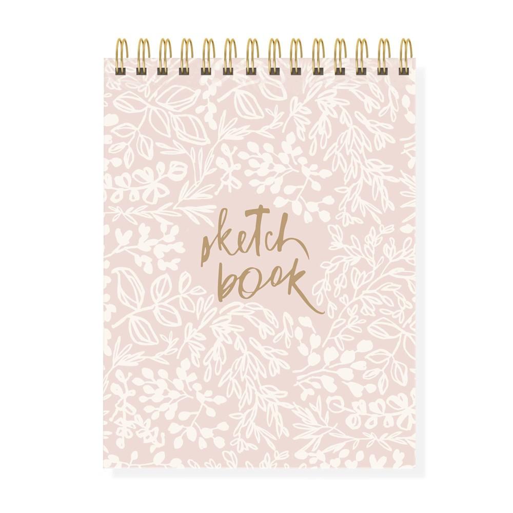 Image of Blank Wrap Journal Hardcover Spiral Bound Pink - Fringe