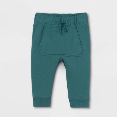 Baby Knit Jogger Pants - Cat & Jack™ Teal Newborn