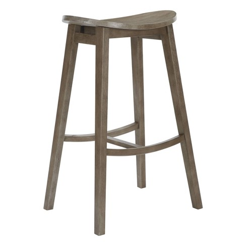 "2pc 29"" York Oval Scoop Saddle Stool - OSP Home Furnishings - image 1 of 3"