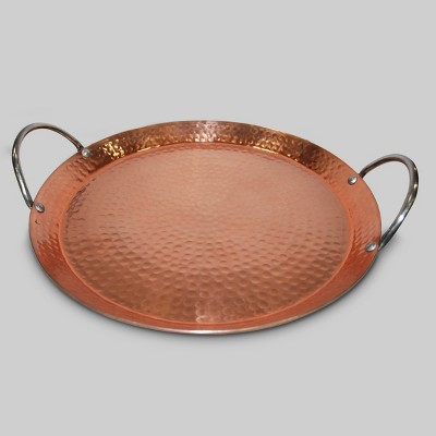 Hammered Serving Tray 12  - Copper - Threshold™