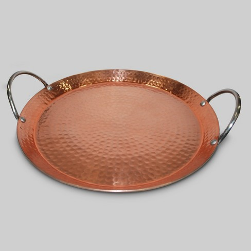 Hammered Serving Tray 12 Copper Threshold