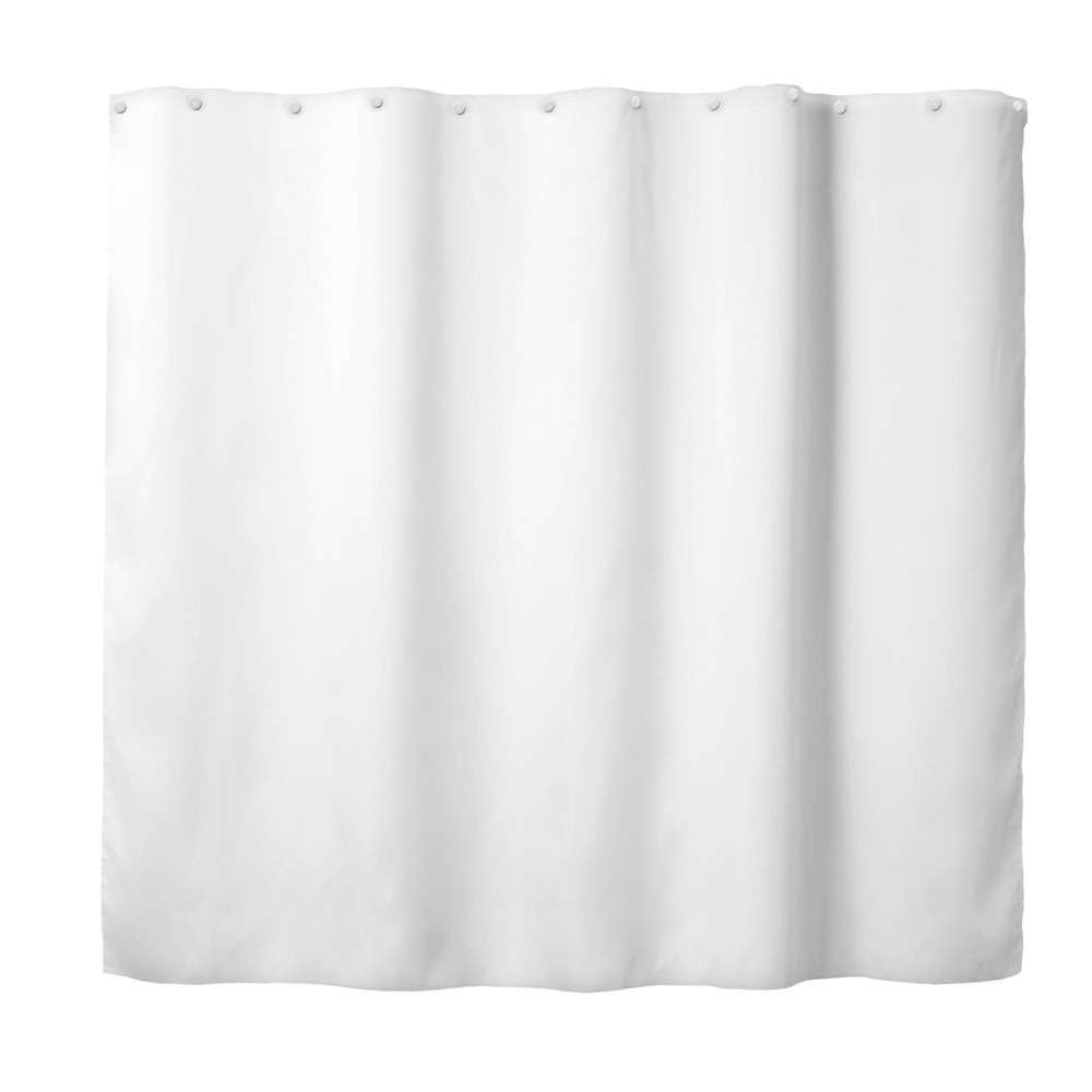Image of It's A Snap Replacement PEVA Shower Curtain Liner Solid White - Hookless