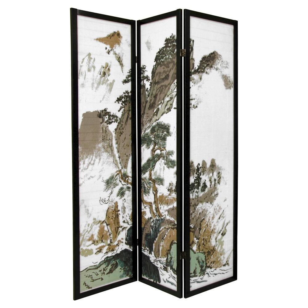 6 ft. Tall Landscape Design Shoji Screen 3 Panel - Orient...