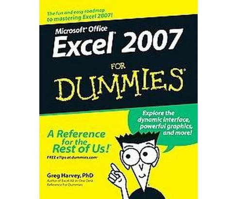 Microsoft Office Excel 2007 for Dummies (Paperback) (Greg Harvey) - image 1 of 1
