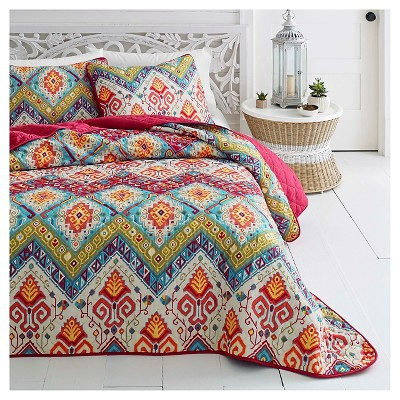 Red Moroccan Nights Quilt Set - Azalea Skye