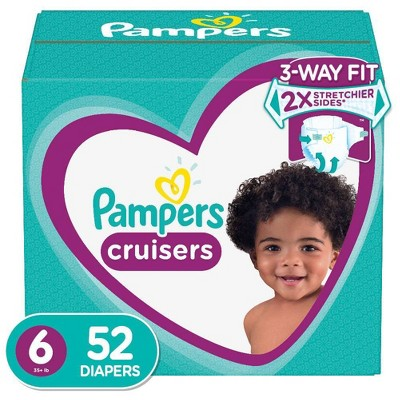 Pampers Cruisers Diapers Super Pack - Size 6 (52ct)