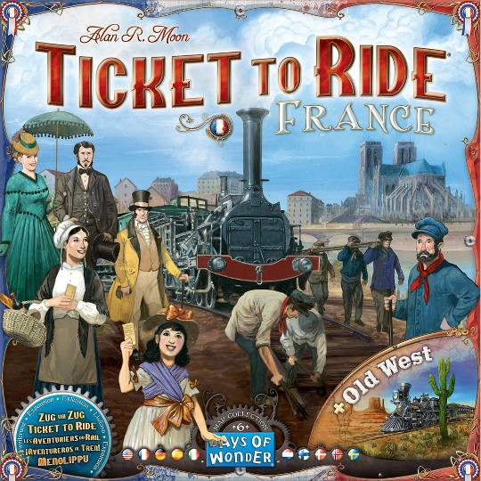 Ticket to Ride: France/Old West Map 6 Board Game image number null