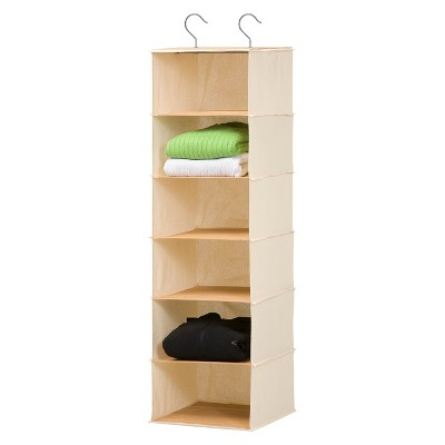 Honey-Can-Do 6 Shelf Hanging Bamboo Organizer