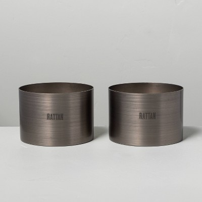 5oz Rattan Brushed Tin Candle - Hearth & Hand™ with Magnolia