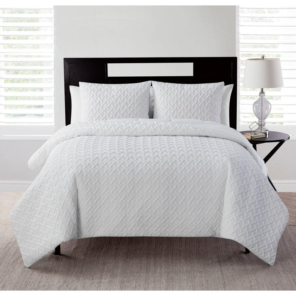 Twin Xl Nina Ii Embossed Comforter Set White Vcny Home