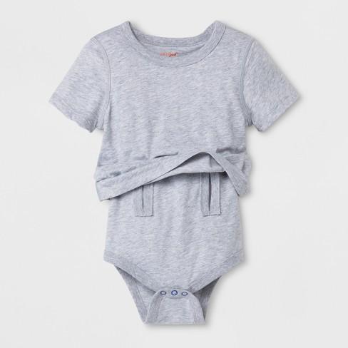 92147612a Toddler Boys  Adaptive Bodysuit - Cat   Jack™ Heather Gray   Target