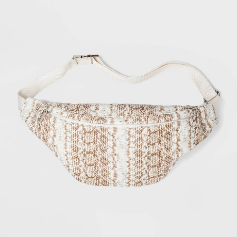 Women's Snake Fanny Pack - Wild Fable™ Cream - image 1 of 4
